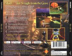 MediEvil - Back Cover NTSC
