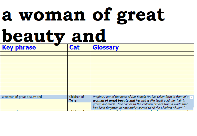 A woman of great beauty and