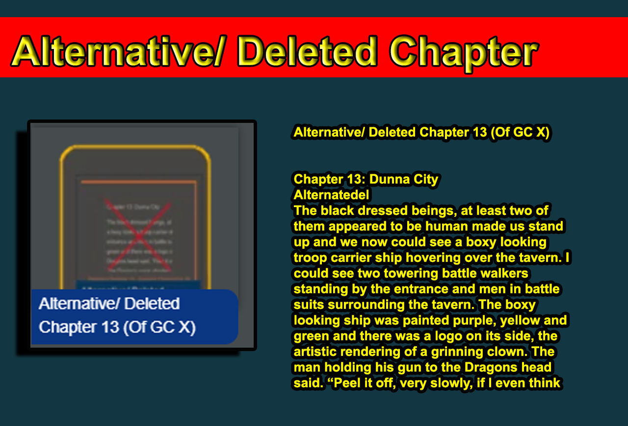 Alternative/ Deleted Chapter 13 (Of GC X)