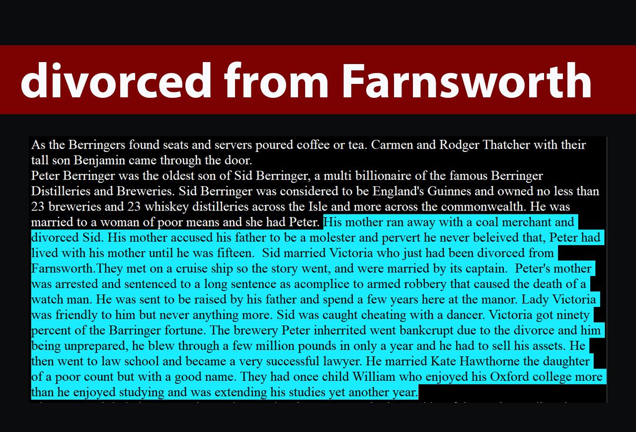 Divorced from Farnsworth
