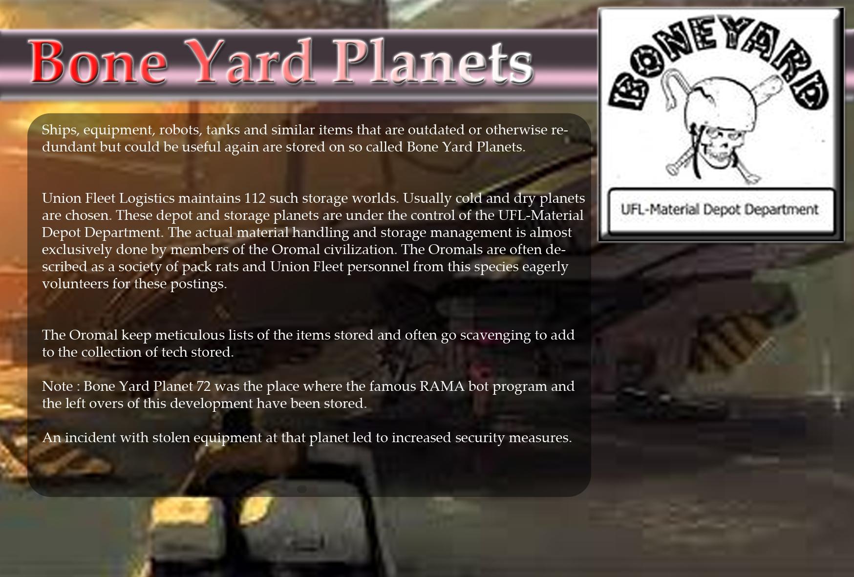 Bone Yard Planets