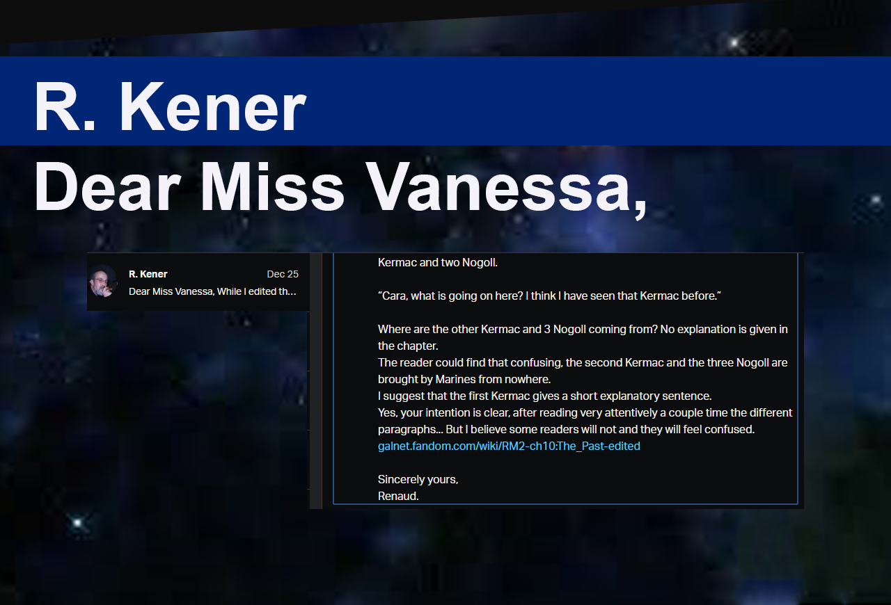 Dear Miss Vanessa