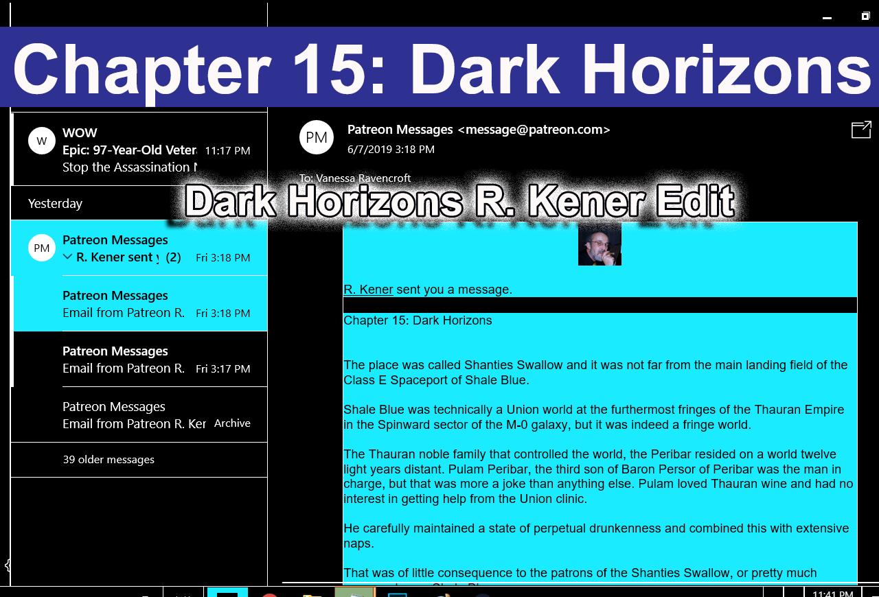 Chapter 15: Dark Horizons R. Kener Edit