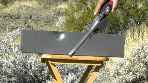 10mm vs 44 MAGNUM Shooting at 3 32 of inch metal plate