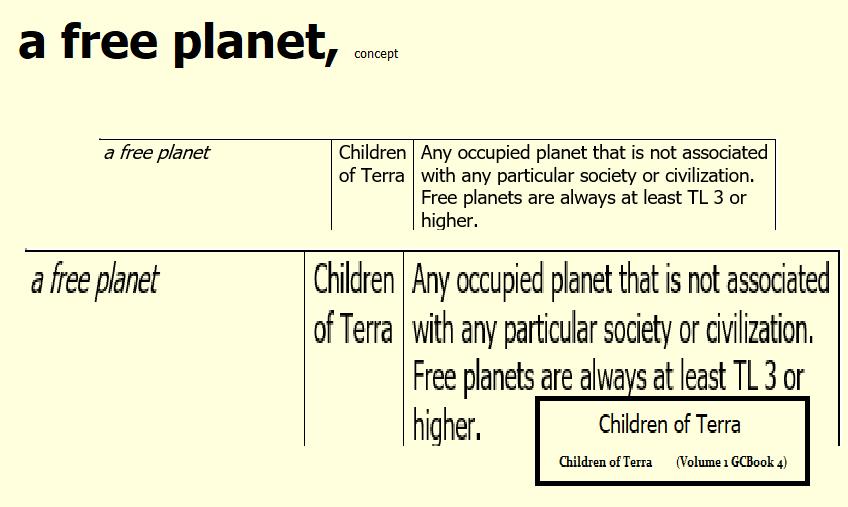A free planet