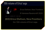 10th volume of Erica' saga