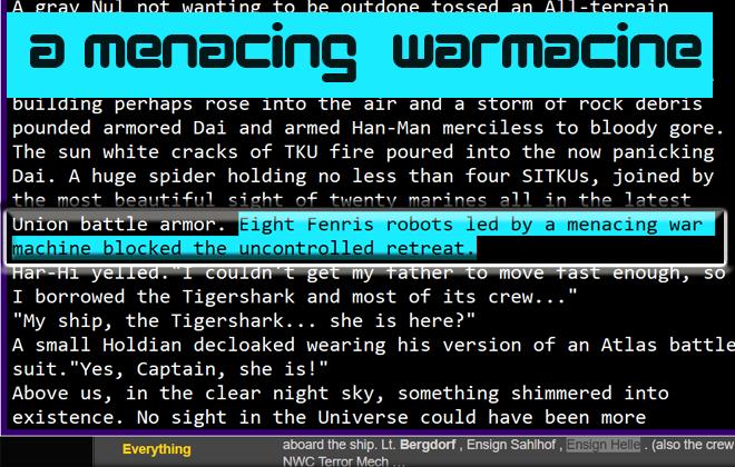 A menacing war machine