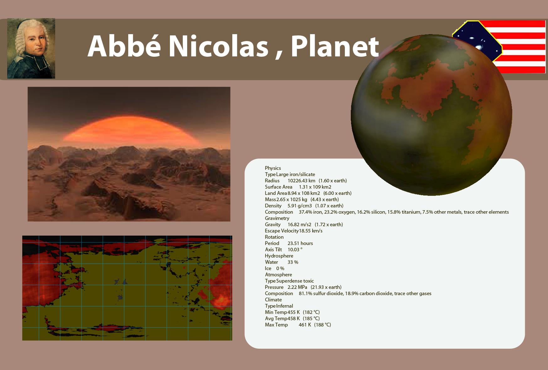 Abbé Nicolas , Planet