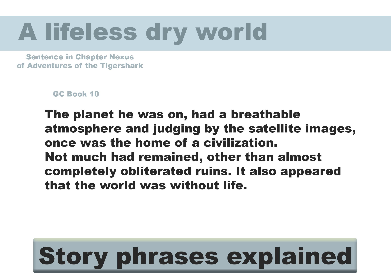 A lifeless dry world