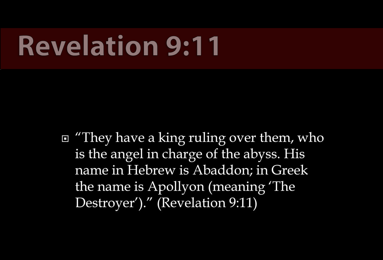 Rev 9:11