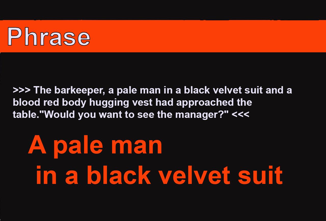 A pale man in a black velvet suit