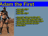 Adam the First