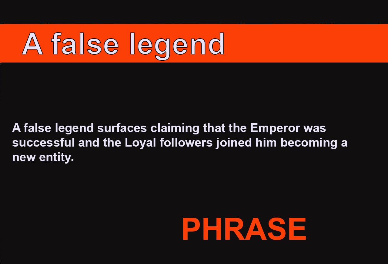 A false legend