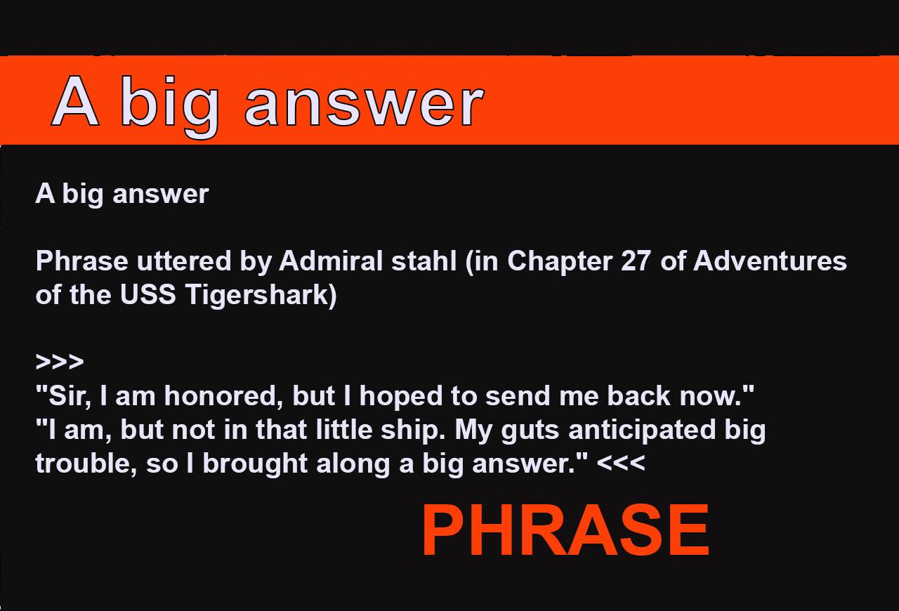 A big answer