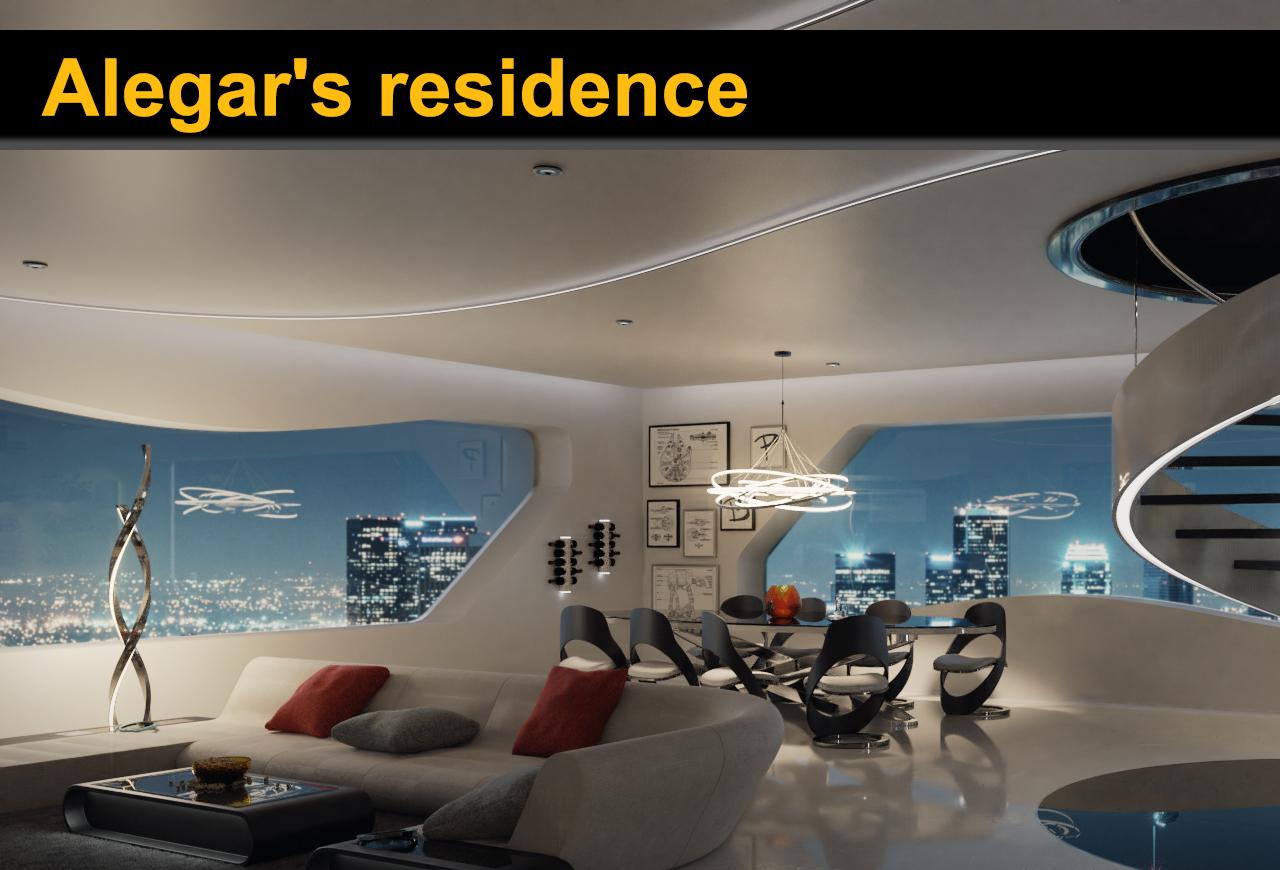 Alegar's residence