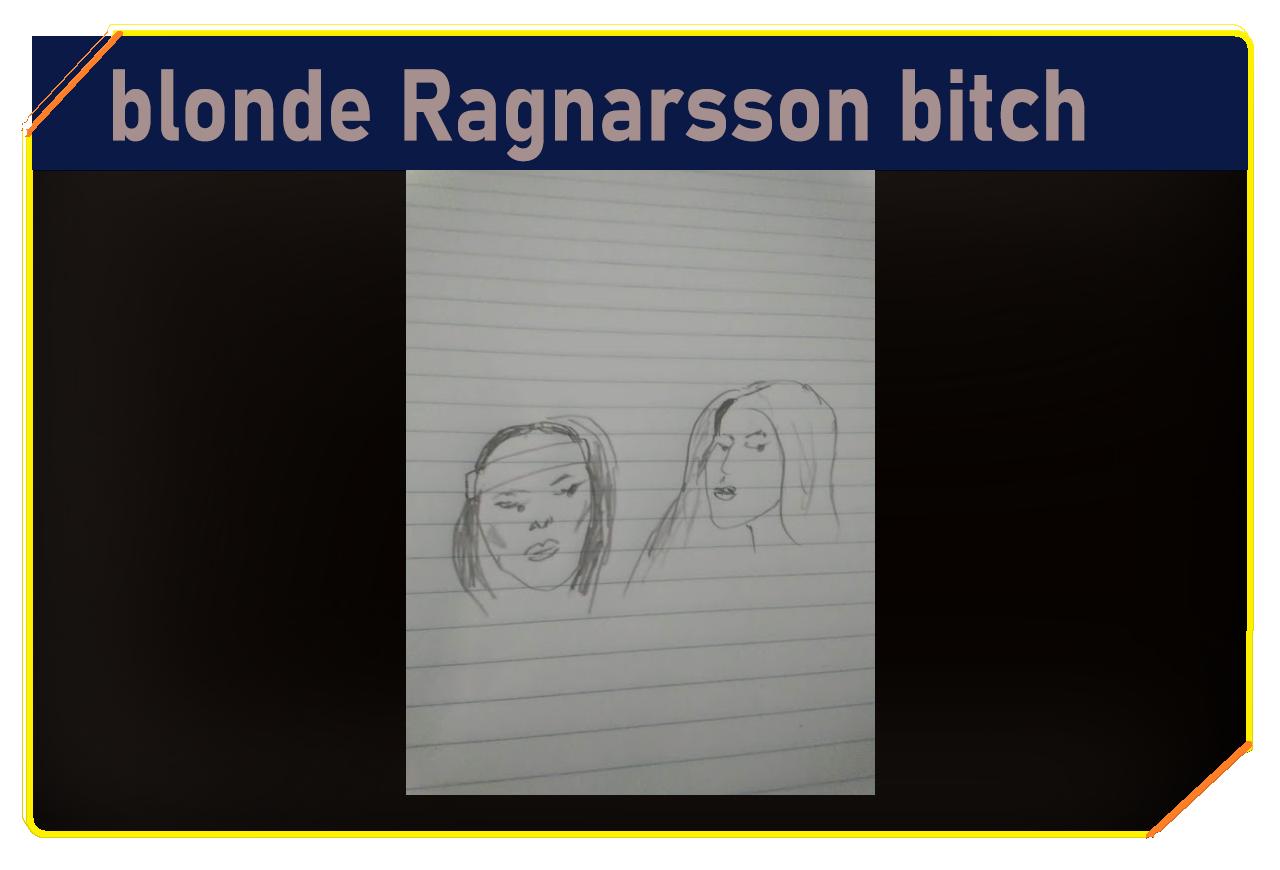 Blonde Ragnarsson bitch