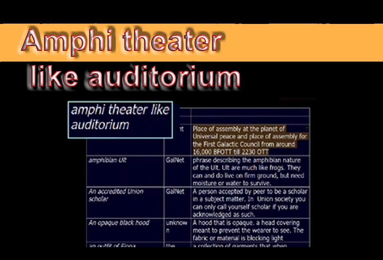 Amphi theater like auditorium