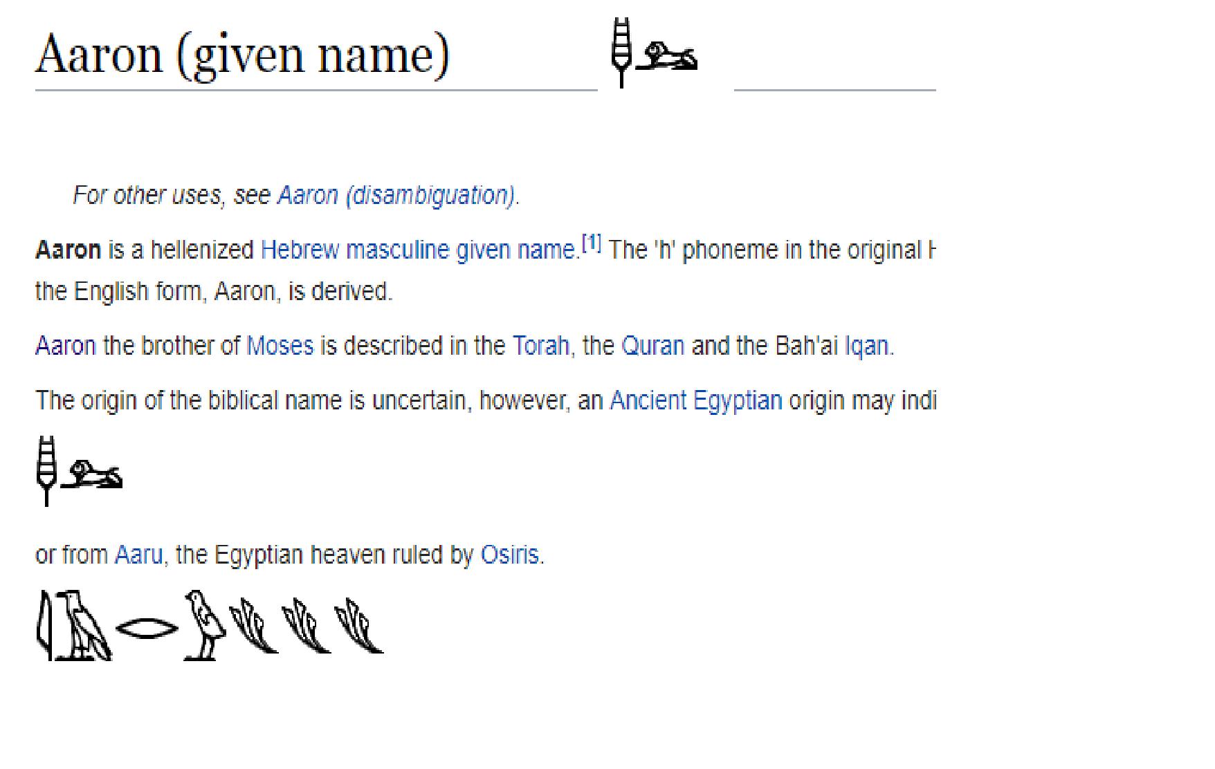 Aaron, name