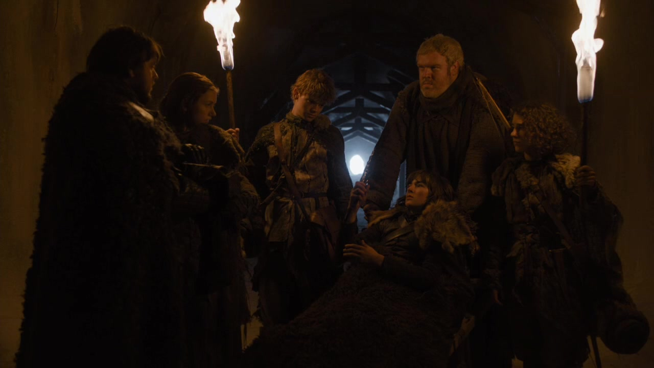 Rencontre entre Sam, Vère, Jojen, Hodor, Bran et Meera.jpg