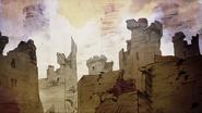 Harrenhal après l'attaque d'Aegon