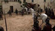 Jaime Lannister et ses hommes encerclent Ned Stark et Jory Cassel.jpg