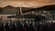 Armée d'Aegon devant Villevieille