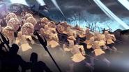 Armée de Argilac détruit les défenses