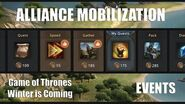 Alliance Mobilization - Events - Game of Thrones Winter is Coming