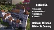 Barracks - Buildings - Game of Thrones, Winter is coming