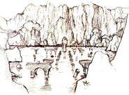 Schizzo del lago di Avion