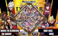 Guilty Gear vs BlazBlue Cross Tag Battle Character Select