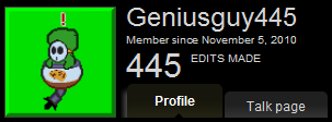 Geniusguy445/Celebration of many things!