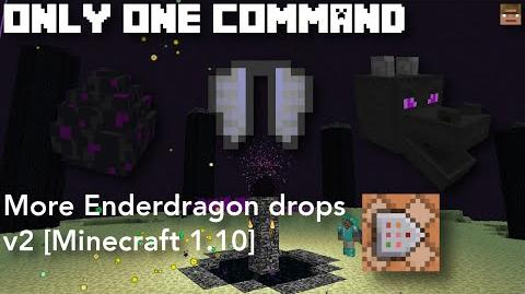 More Enderdragon Drops v2 Only one command Minecraft 1