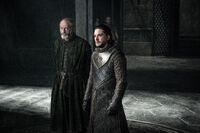 703 Jon und Davos im Thronsaal