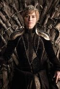 Cersei on Throne Winterfell Ep s8