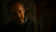 Stannis Baratheon talks to Shireen