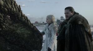 Checking on dragons Jon and Dany