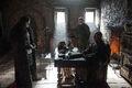 Stannis Baratheon in Castle Black with Jon Snow