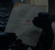 608 Sansa letter reversed for legibility