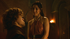 Shae talking to tyrion about his wedding to sans