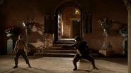 Lord Snow Arya trains 1x03