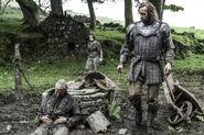 Сандор Клиган и умирающий мужчина 4x07