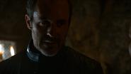 Stannis Baratheon talks to Selyse