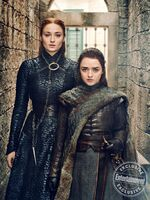 EW Season 8 Sansa & Arya