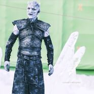Night's King behind the scenes greenscreen