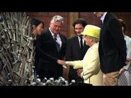 The Buzz - The Queen of England Visits the Set of Game of Thrones
