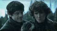 Ramsey telling rickon to play a game