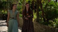 Margaery and Sansa in gardens 307