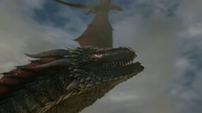 6x09 Rhaegal Sees Drogon Sky