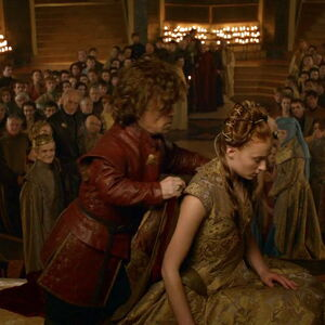 308 Tyrion cloaking Sansa.jpg